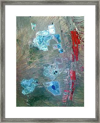 Arizona Copper Mine Framed Print by Nasa/gsfc/meti/ersdac/jaros, And U.s./japan Aster Science Team