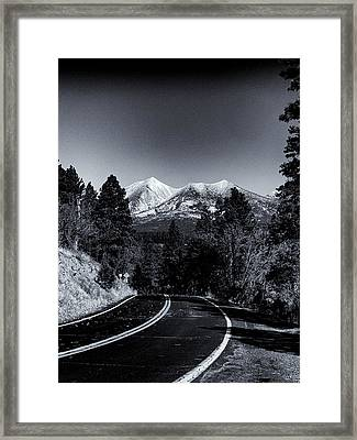 Arizona Country Road In Black And White Framed Print
