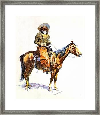 Arizona Cowboy Framed Print by Frederic Remington