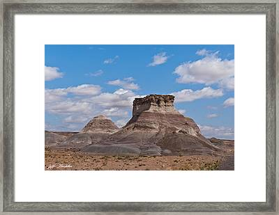 Framed Print featuring the photograph Arizona Desert And Mesa by Jeff Goulden