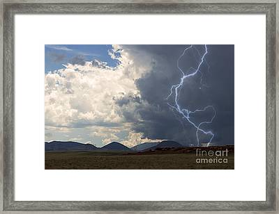 Arizona Desert Lightning  Framed Print