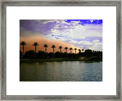 Arizona Dust Storm Framed Print by Katherine Chapman