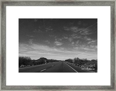 Arizona Highway 70 West Framed Print by Methune Hively