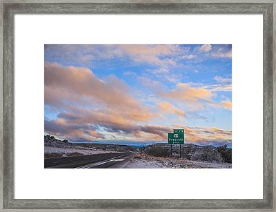 Arizona Highway Sunset Framed Print