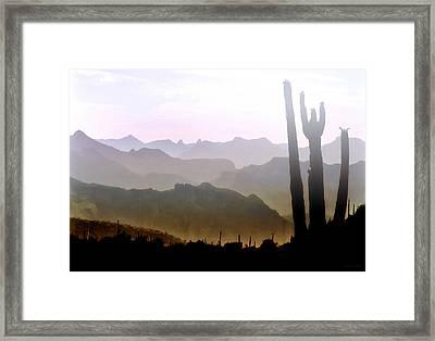 Arizona Horizons Framed Print by Barbara D Richards