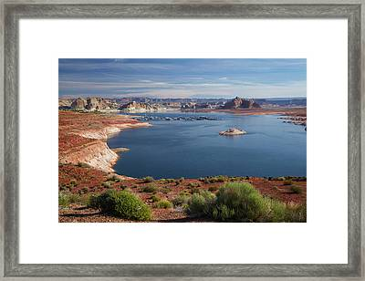 Arizona, Lake Powell At Wahweap (far Framed Print