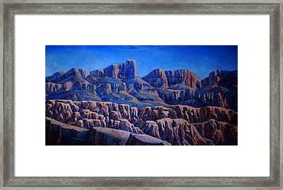 Arizona Landscape At Sunset Framed Print by Dan Terry
