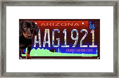 Arizona License Plate Framed Print by Lanjee Chee