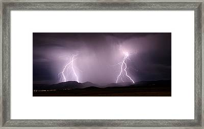Arizona Lightning Storm Framed Print