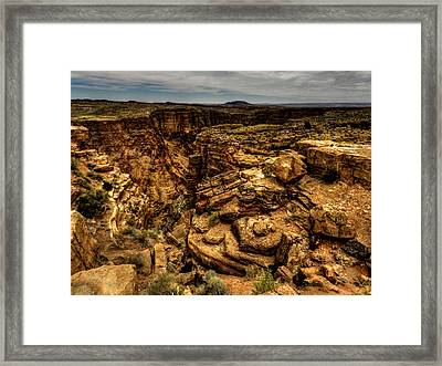 Arizona - Little Colorado River Gorge 002 Framed Print by Lance Vaughn