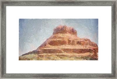 Arizona Mesa Framed Print by Jeff Kolker