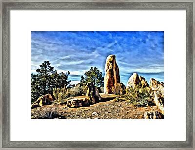 Arizona Monolith Framed Print