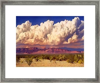 Arizona Monsoon Framed Print