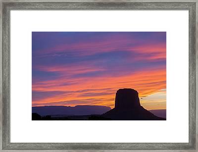 Arizona, Monument Valley, Mitchell Framed Print