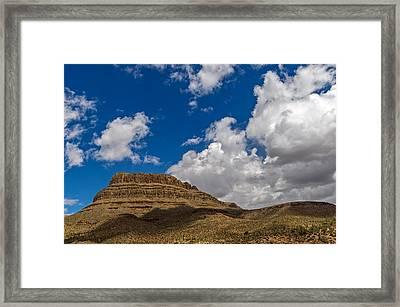 Arizona Mountain Under Blue Skies Framed Print by Willie Harper