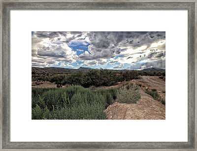 Arizona Rain Framed Print by Joyce Isas