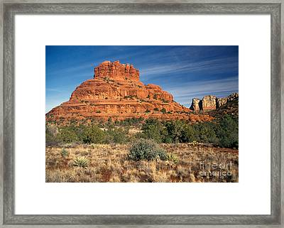Arizona Sedona Bell Rock  Framed Print by Anonymous