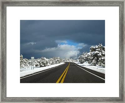 Arizona Snow 1 Framed Print