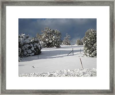 Arizona Snow 3 Framed Print