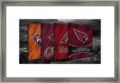 Arizona Sports Teams Framed Print by Joe Hamilton