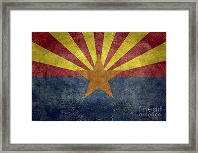Arizona State Flag Framed Print