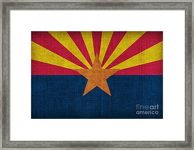 Arizona State Flag Framed Print