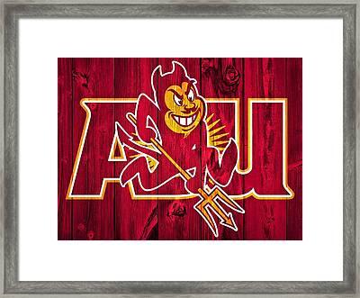 Arizona State Sun Devils Barn Door Framed Print