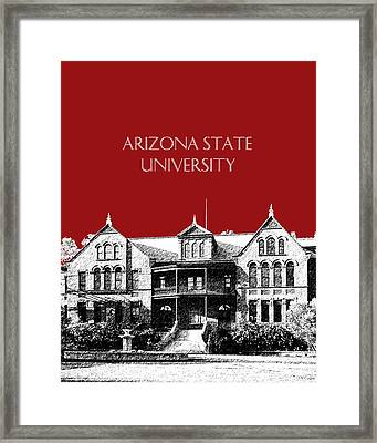 Arizona State University - The Old Main Building - Dark Red Framed Print