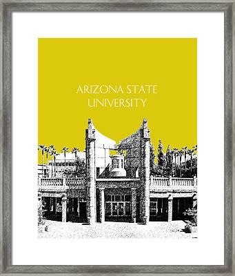 Arizona State University 2 - Hayden Library - Mustard Yellow Framed Print by DB Artist