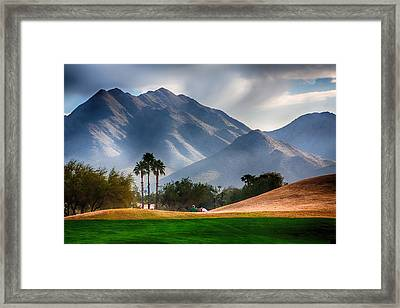 Arizona Sunrise Golfing Framed Print by Fred Larson