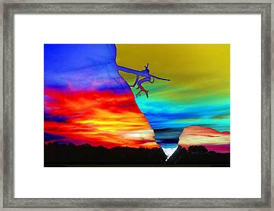 Arizona Sunset Collage Framed Print