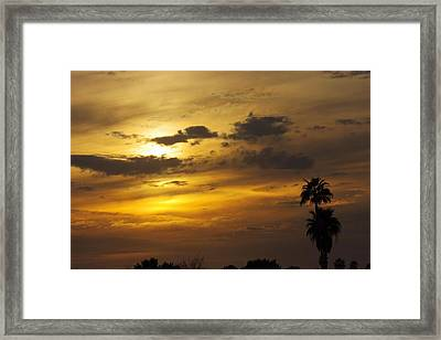 Framed Print featuring the photograph Arizona Sunset by David Rizzo