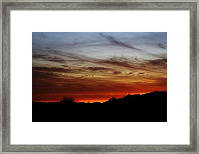 Arizona Sunset Skies Framed Print