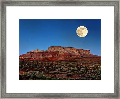 Arizona Supermoon 003 Framed Print by Lance Vaughn