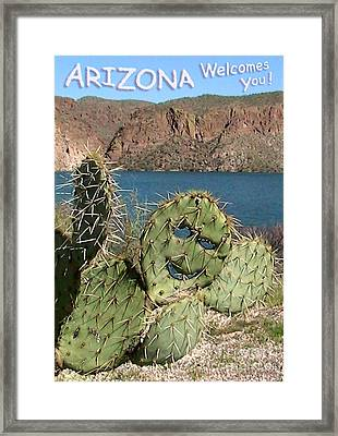 Arizona Welcomes You Framed Print by Cristophers Dream Artistry