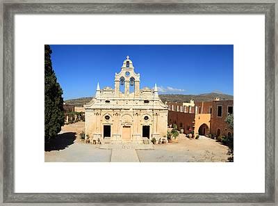 Arkadi Monastery In Crete Framed Print by Paul Cowan