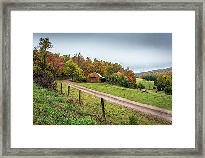 Arkansas Barn Framed Print by Larry Pacey