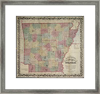 Arkansas Framed Print by British Library