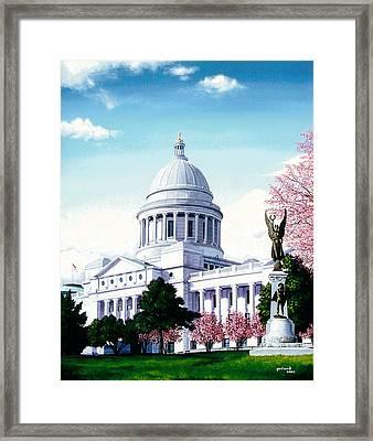 Arkansas Capitol Blossoms Framed Print