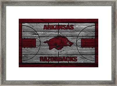 Arkansas Razorbacks Framed Print