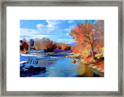 Arkansas River In Salida Co Framed Print