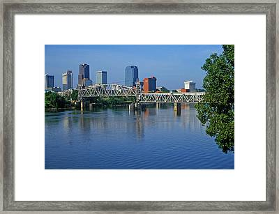 Arkansas River View From North Little Framed Print