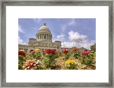 Arkansas State Capitol - Little Rock Framed Print