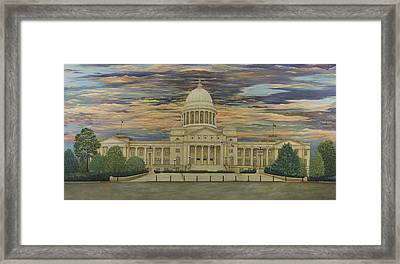 Arkansas State Capitol Framed Print by Mary Ann King