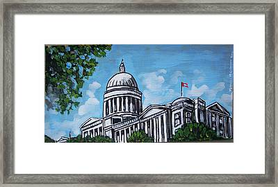 Arkansas State Capitol Framed Print by Mitchell McClenney