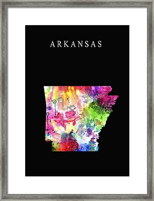 Arkansas State Framed Print by Daniel Hagerman
