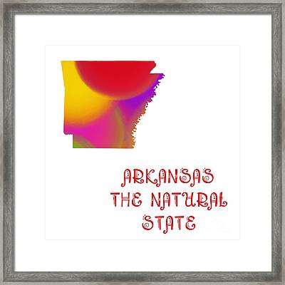 Arkansas State Map Collection 2 Framed Print by Andee Design