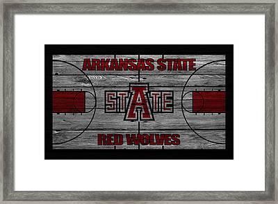 Arkansas State Red Wolves Framed Print by Joe Hamilton