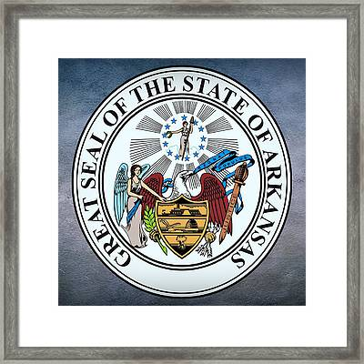 Arkansas State Seal Framed Print