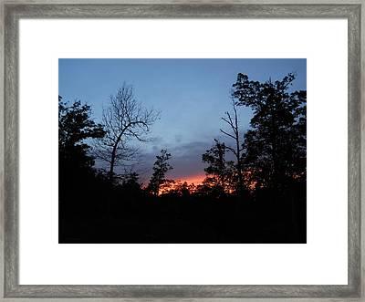 Arkansas Sunset Framed Print by Yolanda Raker